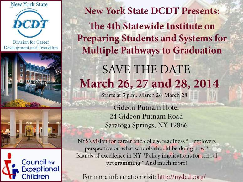 New York State DCDT Save-The-Date
