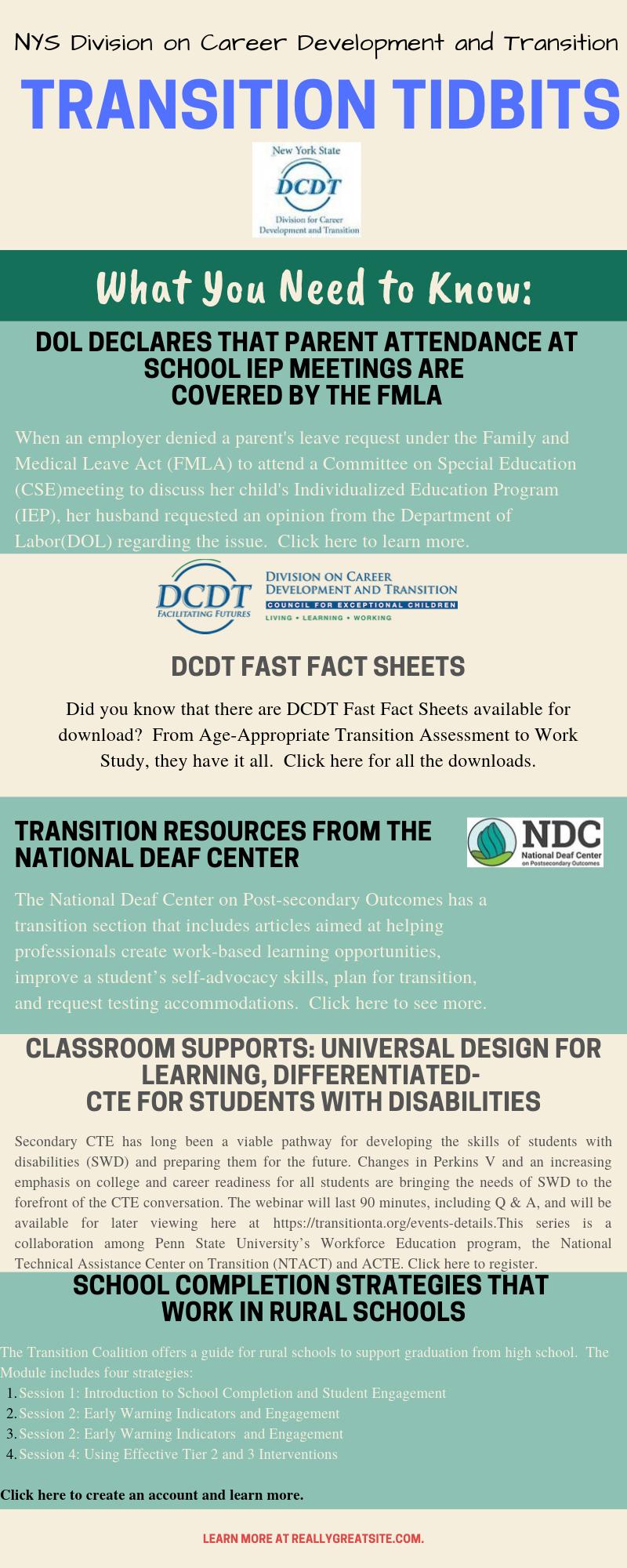 NYS DCDT Transition Tidbits-September