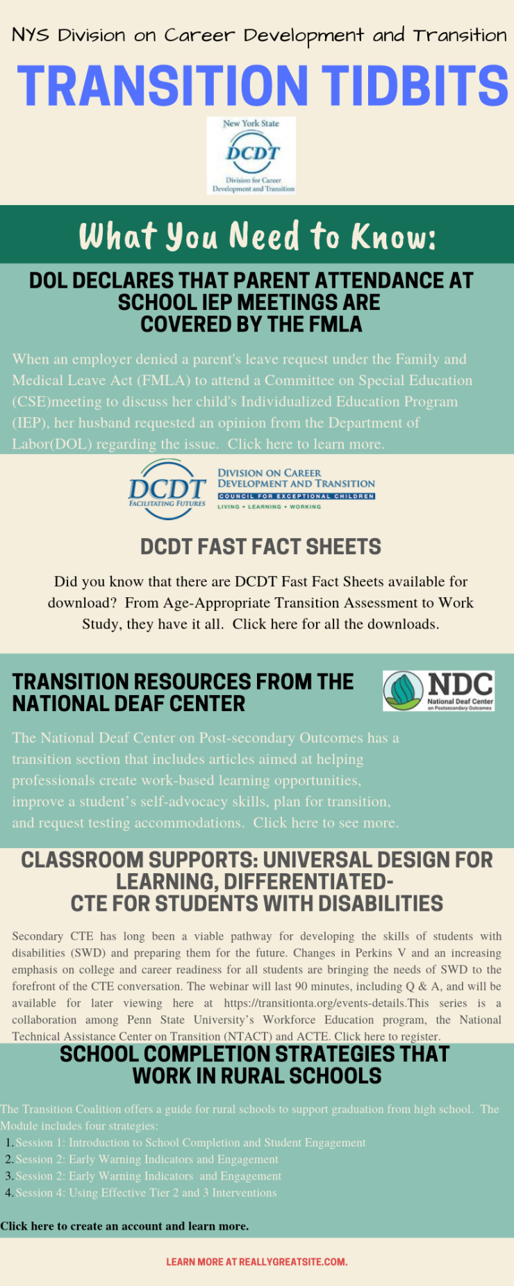 NYS DCDT Transition Tidbits-September